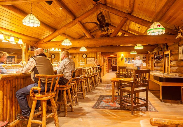 Cowboy Bar Brooks lake lodge and spa