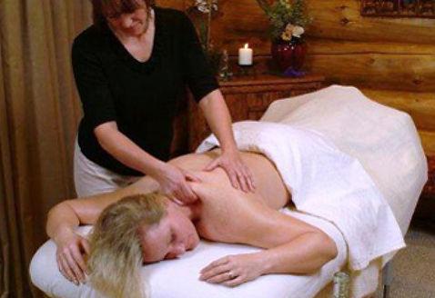 Healing massage at Brooks Lake Lodge, an all-inclusive luxury resort near Yellowstone