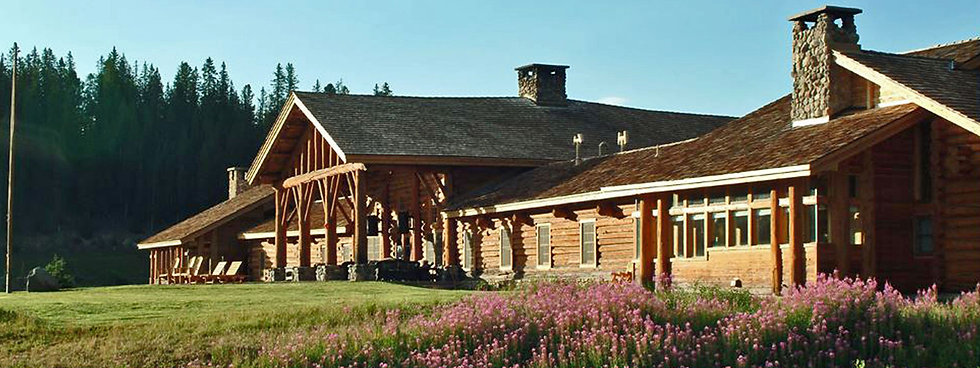 Sunny building exterior - Contact Us - Brooks Lake Lodge - Guest Ranch Jackson Hole