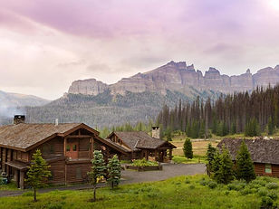 Private cabins in the mountains at Brooks Lake Lodge, an all inclusive resort in Dubois, WY