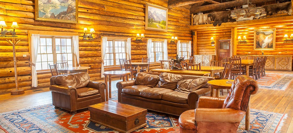 Sitting area - FAQs - Brooks Lake Lodge - Jackson Hole ranch