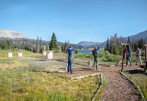 Archery at Brooks Lake Lodge, an all-inclusive luxury resort near Yellowstone