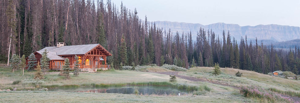 Spa building at Brooks Lake Lodge, an all-inclusive luxury resort near Yellowstone