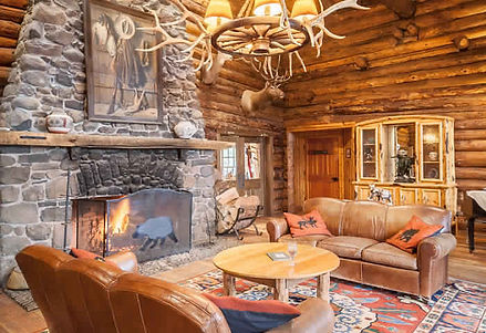 Governors-tea-room-- Tour the Lodge - Brooks Lake Lodge - Yellowstone luxury hotels