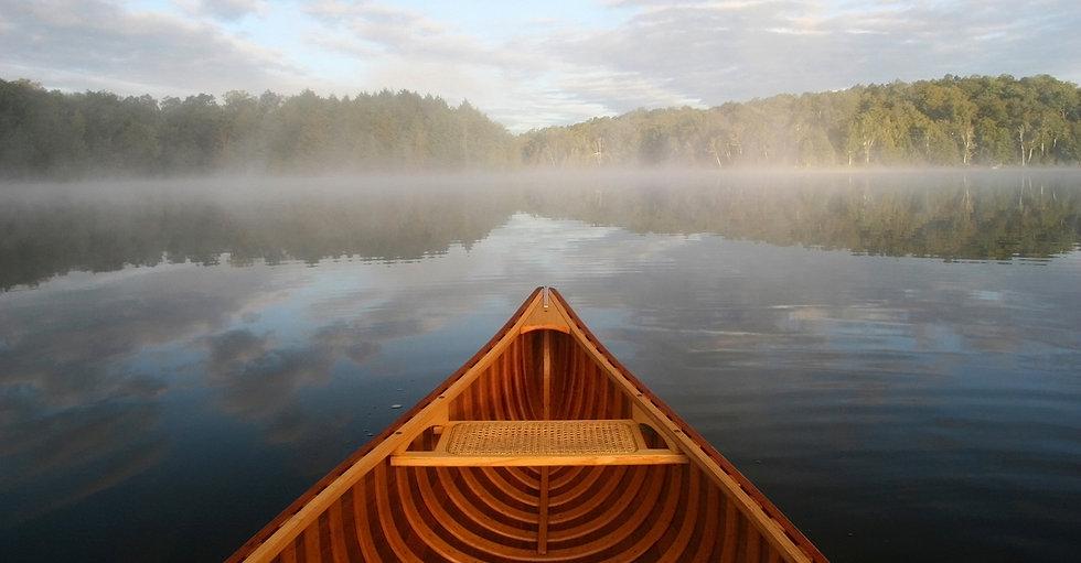 Early morning canoe ride on Otter Lake