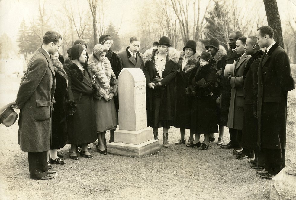 Group of Adventists gathered at Sojourne