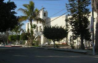 Iglesia Nuestra Señora del Pilar, the landmark of Todos Santos, Baja California.