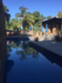Todos Santos Baja Heated 40 ft. pool at Casa Bentley Hotel