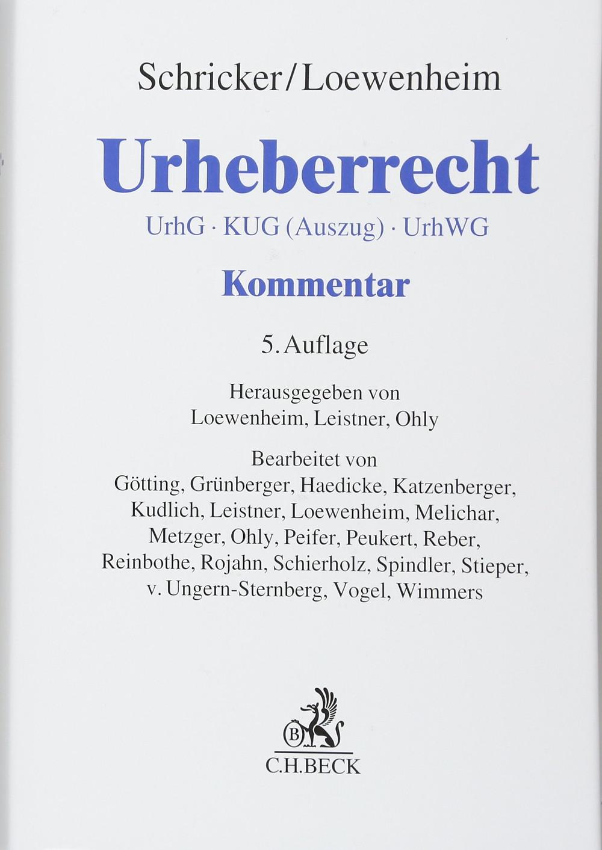 Frontcover des Kommtars zum Urheberrecht von Schricker und Loewenheim