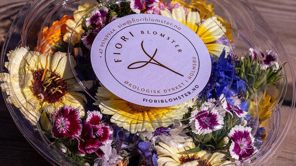 Mix av spiselige blomster