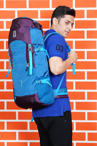 OZO 70 L Dark Purple & Blue Color Hiking Trekking Travel Backpack