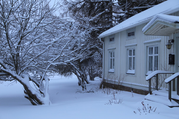 The small white cottage