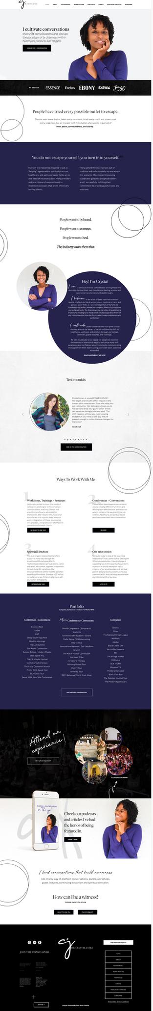 Web Design For Dr. Crystal Jones