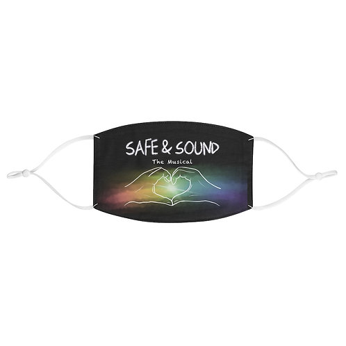 SAFE & SOUND (Coloured Logo on Fabric Face Mask)