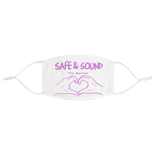 SAFE & SOUND (Pink Logo on Fabric Face Mask)