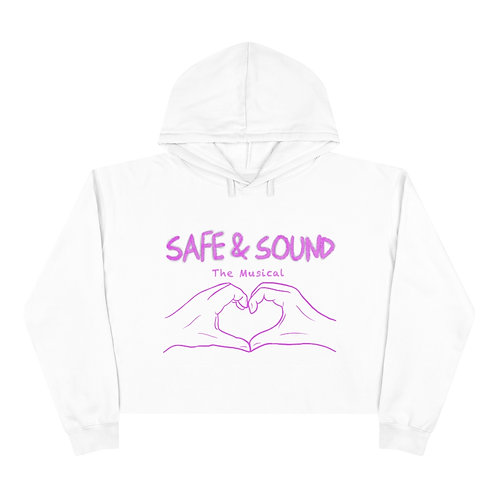 SAFE & SOUND (Pink Logo on Crop Hoodie)