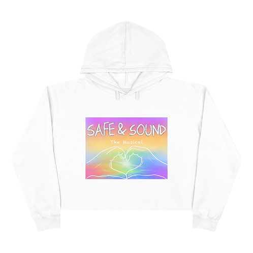 SAFE & SOUND (Coloured Logo on Crop Hoodie)