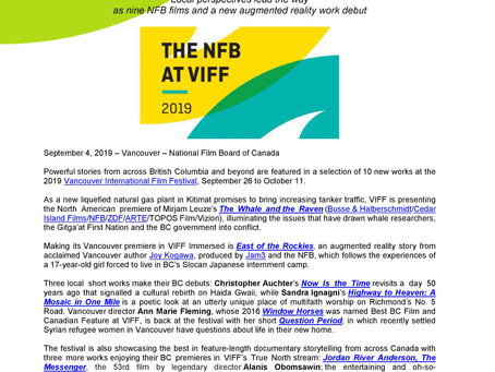 NFB announces: VIFF is presenting The Whale and the Raven