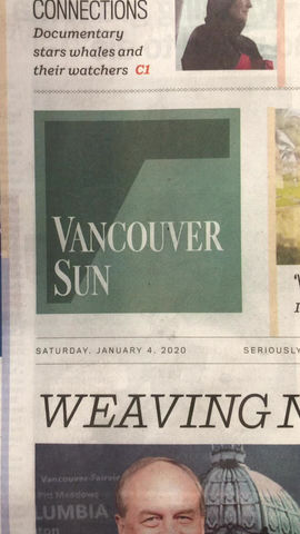 """Vancouver Sun on """"The Whale and The Raven"""""""