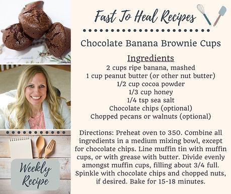 Chocolate Banana Brownie Cups