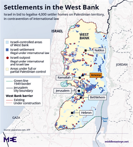 Map of West Bank from Peace Now
