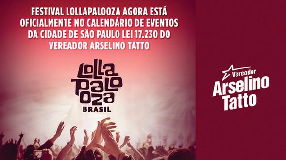 Lollapalooza entra para o calendário oficial de eventos da cidade de São Paulo