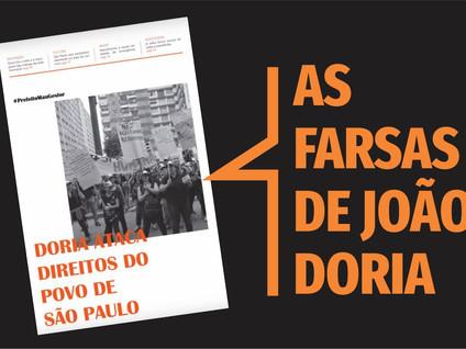 Bancada do PT na Câmara lança jornal sobre as farsas de João Doria