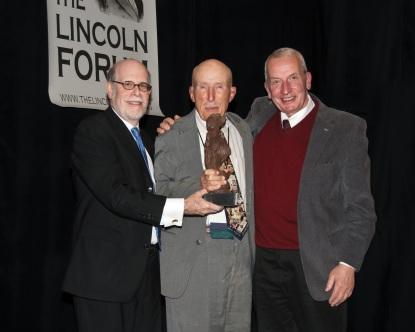 Frank J. Williams and Harold Holzer present the 2011 award to Ed Bearss