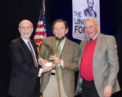 Frank J. Williams and Harold Holzer present the 2014 award to James Getty