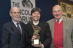 Frank J. Williams and Harold Holzer present the 2008 award to Ken Burns
