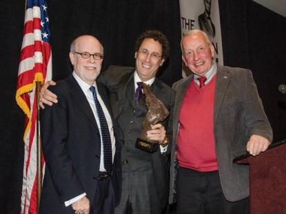 Frank J. Williams and Harold Holzer present the 2013 award to Tony Kushner