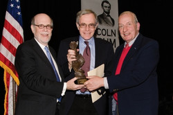 Frank J. Williams and Harold Holzer present the 2012 award to Eric Foner
