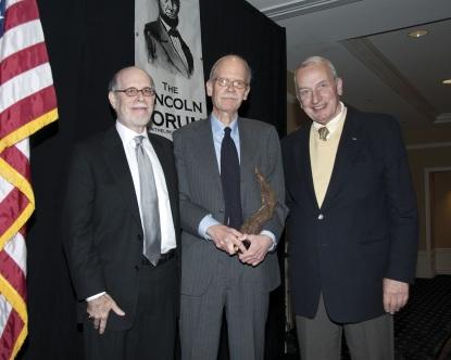 Frank J. Williams and Harold Holzer present the 2010 award to Mark E Neely
