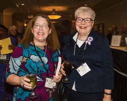 Virginia Cook and Carole Popchock