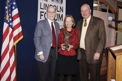 Frank J. Williams and Harold Holzer present the 2006 award to Doris Kearns Goodwin