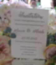 Glitter Embossed invitation