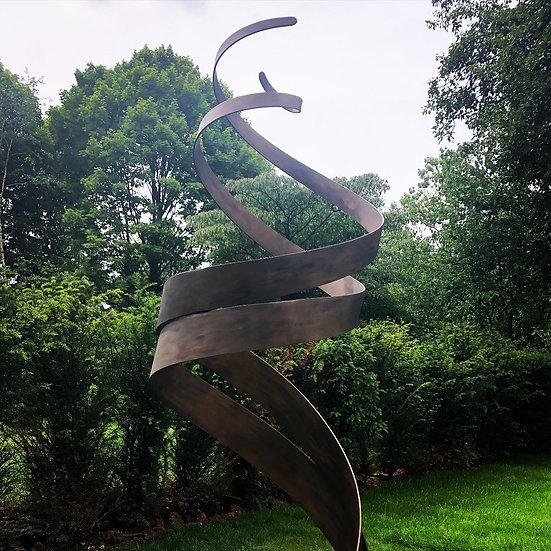 Bronze Patina Spiral 2m