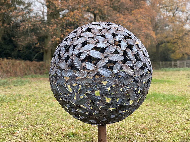 Beech Leaf Sphere Sculpture