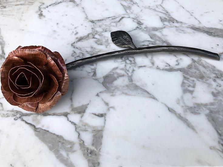 Handmade Copper Rose Flower Gift