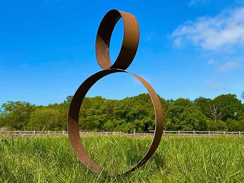 Garden Metal Circular Ring Hoop Art Sculpture