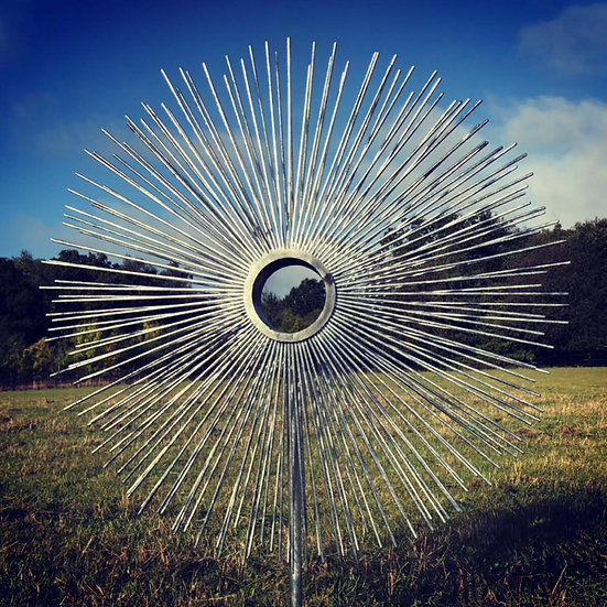 Galvanised Peacock Sculpture