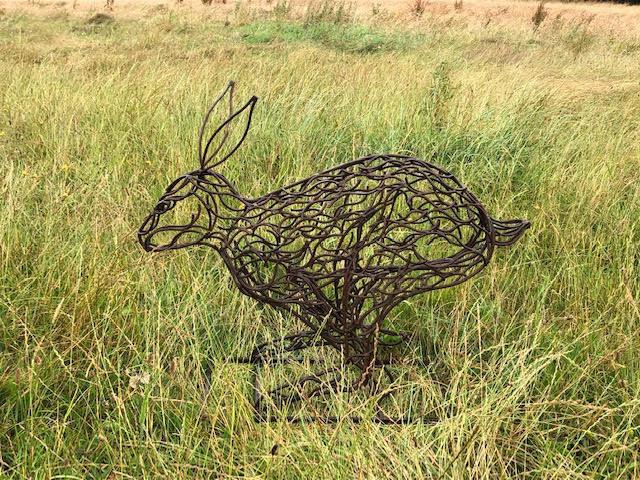 Running Hare Sculpture