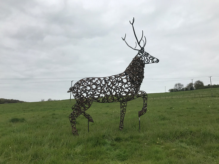 Strutting Stag Sculpture