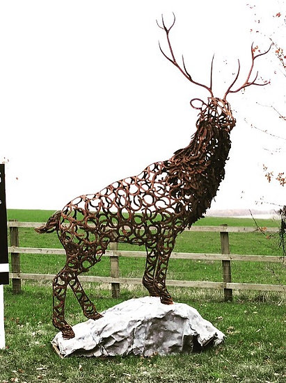 Watchful Stag Sculpture