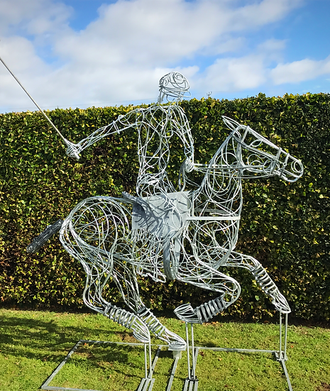 SOLD Polo Pony Sculpture
