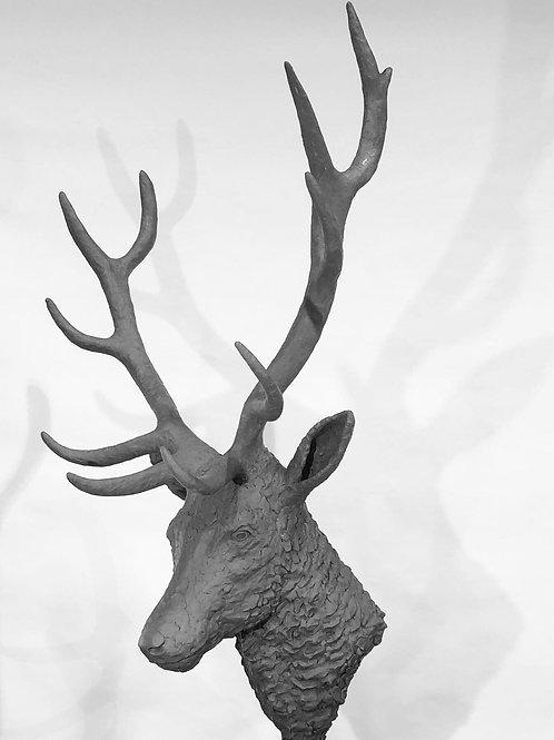 Red Stag Head 2019 Bronze Sculpture