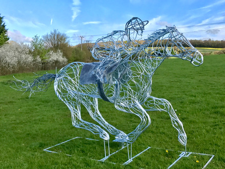 NEW Race Horse Sculpture is Unveiled Internationally