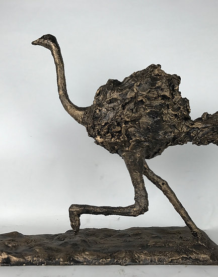 Ostrich Bronze Sculpture