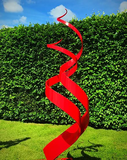 Spiral Bright Red