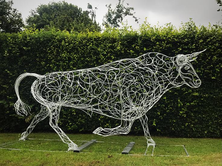 Running Bull Sculpture